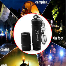 Portable Mini Q5 LED 15000LM Flashlight CampingTorch Lamp 3MODE Keychain KeyRing