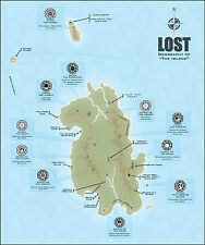 Poster - The Island from the TV Show Lost (Picture DHARMA Initiative Blu-Ray Art