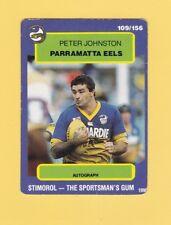 1990 Stimorol Rugby League Trading Card #109 Peter Johnston Parramatta Eels