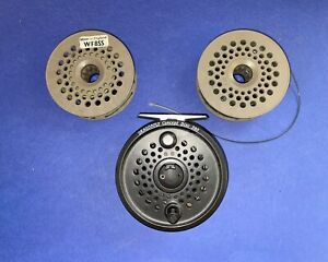 LEEDA DRAGONFLY FLY REEL CONCEPT DISC 395 WITH 2 SPARE SPOOLS +ORIGINAL BOX