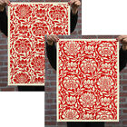 Shepard Fairey Obey FLORAL PATTERN SET Signed Numbered Screen Prints xx/100