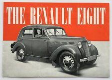 1946 Renault Eight Sedan Original Car Brochure Folder and Company Letter 1947