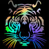 Cool Tiger Head Car Truck Sticker Animal Home Vinyl Wall Art Room Mural Decal