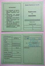 ABE registrierschein Betriebserlaubnis SIMSON STAR Sr 4-2/1 kein Typenschild DDr