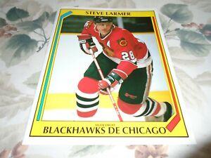 STEVE LARMER CHICAGO BLACKHAWKS       POSTER COLOR 8 BY 11 1991-1992