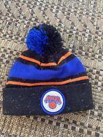 Mitchell & Ness New York Knicks Cuffed Winter Pom Knit Beanie Hat/Cap NBA
