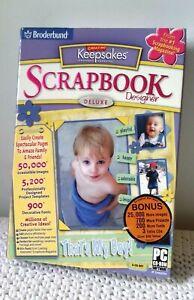 Broderbund Deluxe Scrapbook Designer Creating Keepsakes PC 2005 Win XP (Read)