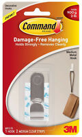 3M Command Medium Metal Hook Damage Free Hanging Holds 4lb 1.8kg