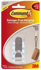 3M Command Medium Metal Hook Damage Free Hanging Holds 4lb 1.8kg