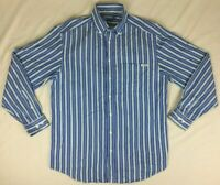 RM Williams - Stockyard Blue Striped Long Sleeve Button Up Shirt - Mens - Size L