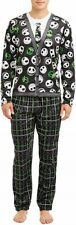 Nightmare Before Christmas Men 2-pc Pajama Sleep Set Cardigan Look Size M