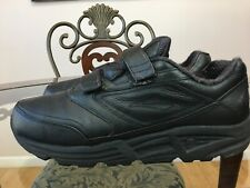 Brooks Addiction Walker Mens Size 11 W 2E Black Leather Strap Walking ShoeS #009
