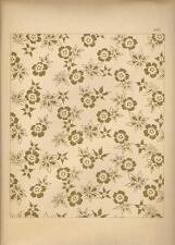 Stampa antica GIAPPONE JAPAN STYLE Fiori foglie dorati Gillot 1885 Antique print