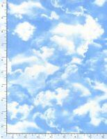 Clouds cloud Sky Blue Coordinate C9083 Multi Timeless Durable Cotton Fabric