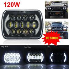 120w Osram 7x6 5x7 Led Headlight Hi Lo Beam Halo Drl For Jeep Cherokee Xj Yj Fits Mustang