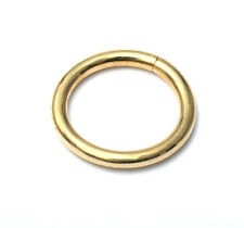 14k Solid Yellow  Solid Gold Seam Ring Nose Lip Ear Piercing  (18g)