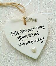 30th Anniversary GIFT Wedding Keepsake Present PEARL Heart Personalised KRAFTIKO