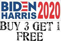 "Joe Biden Kamala Harris For President 2020 Bumper Sticker 8.7"" x 3"" BIDEN/HARRIS"