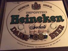 Vintage Heineken Special Dark Beer Mirror Sign Perfect for Mancave, Pub, and Bar