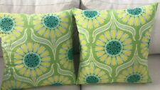 OOP Heather Bailey Nicey Jane Fabric Pillow Covers Nursery Decor Blues  Greens