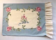 Vtg Burlington Vera Neumann Rose Sachet Pillowcase Standard Shabby Cottage Chic