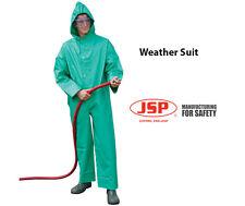 JSP Weather Suit Coverall Windproof Waterproof Boiler suit Hooded Green Mens XXL