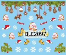 Nailart stickers décalcomanie ongles décorations de Noël bonnets rênes happy
