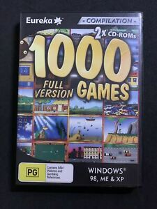 1000 Full Version Games PC CDROM 2005 WinXP Win95/98 🕹️ PC GAME 🕹