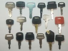 (17) Keys Cat,Volvo, Hitachi, John Deere, Komatsu, Kobelco, Kato, John Deere.,.,