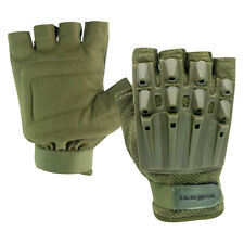 Valken Paintball Airsoft Alpha Half Finger Gloves - Olive Xsmall/Small Xs/S
