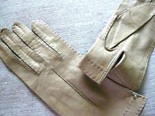 Size 7 Women'S New Carmel(Y) Beige Super Soft Kid Leather Gloves-New