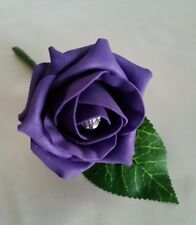 10 x Rose Wedding Buttonholes Corsage Groom Guest Best Man All Colours