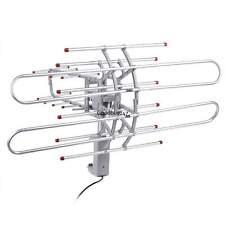 HDTV 1080p Outdoor Amplified Antenna 360 Rotor Digital HD TV UHF VHF FM 150 Mile
