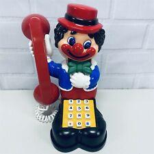 "Rare Plastic Vintage Clown Boy Figurine Toy Phone 8.5"" See Video"
