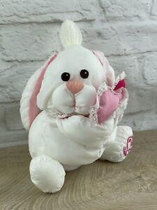 "Vintage Fisher Price Puffalumps Bunny Rabbit Valentines Hearts 10"" HTF"