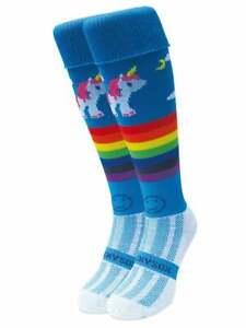 WackySox Rugby Socks, Hockey Socks - Rainbow Unicorn