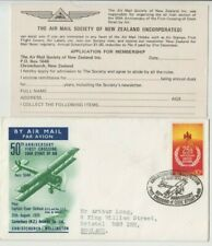 Stamp 10c New Zealand 1970 Crossing Cook Straight Dickson flight cover & card