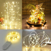 10/20/30LED Button Battery Operated Micro LED Copper Wire String Fairy Lights YC