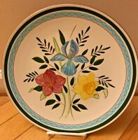 Beautiful Vintage Stangl Country Garden Serving Plate Dish circa 1950s Carved