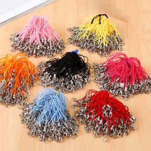 100pc Cell Phone Lanyard Cords Strap Lariat Mobile Lobster Clasp DIY 20 Colors