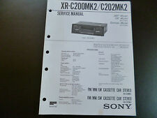 ORIGINALI service manual SONY CASSETTE CAR STEREO xr-c200mk2/c202 MK