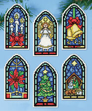 Cross Stitch Kit ~ Design Works Stained Glass Ornaments #DW5909