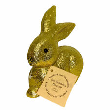 Ino Schaller Bayern Germany Easter Gold Glitter Bunny Rabbit Figurine
