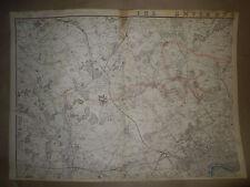 London Environs 1863 map from Dispatch atlas Enfraved by E.Weller Framed 40 more