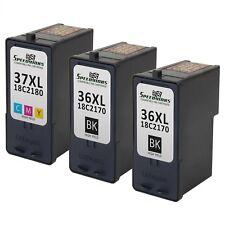 3pk Lexmark 36XL 37XL HY Ink Cartridge Black & Color Set X4650 X3650 X5650 X6650