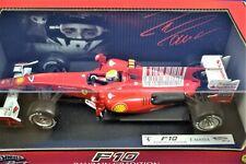 Hot Wheels 1/18 Ferrari F10, 2010 Bahrain GP, #7 F. Massa