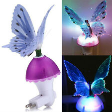 Fiber Optic Butterfly Color Changing LED Lamp Child Bedroom Night Light PURPLE