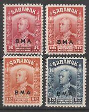 SARAWAK 1945 BMA OVERPRINTED RAJAH RANGE TO 15C