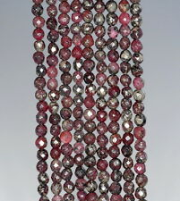 4MM RED PYRITE INCLUSIONS GEMSTONE GRADE AA FACETED ROUND LOOSE BEADS 15.5""