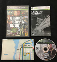 Grand Theft Auto IV 4 — Complete! Manual & Map Included! (Xbox 360, 2009) GTA 4